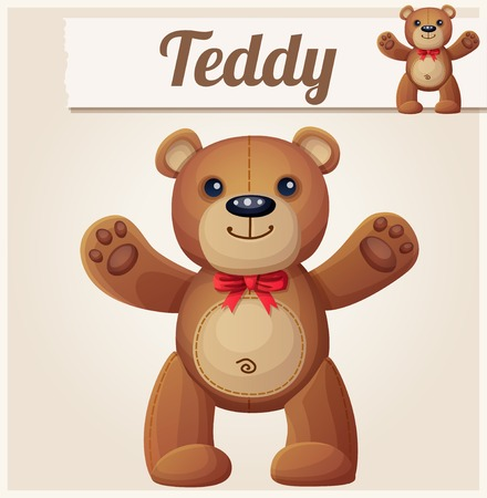 teddy bear love: Teddy bear love hugs. Cartoon vector illustration.