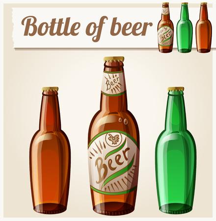 irish pub label design: Bottle of beer Detailed Vector Icon Illustration
