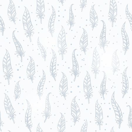 black fabric: Seamless vintage feather pattern