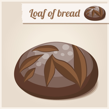 loaf: Detailed Icon Loaf of homemade brown bread