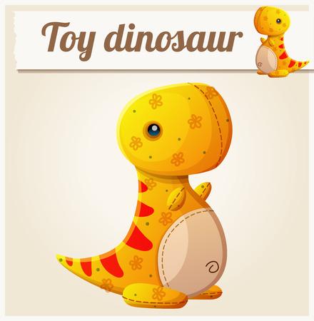 dinosaurio: Juguete dinosaurio 6. ilustración vectorial de dibujos animados. Serie de juguetes para niños