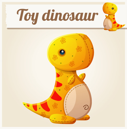 toys: Toy dinosaur 6. Cartoon vector illustration. Series of childrens toys