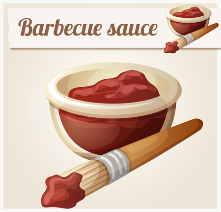 icon series: Barbecue sauce. Detailed Vector Icon. Series of food and drink and ingredients for cooking. Illustration