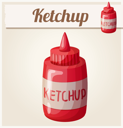 icon series: Ketchup. Detailed Vector Icon. Series of food and drink and ingredients for cooking.