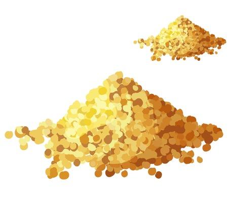 Brotkrumen isoliert auf weißem Hintergrund. Detaillierte Vektor-Symbol. Reihe von Speisen und Getränken und Zutaten zum Kochen. Vektorgrafik