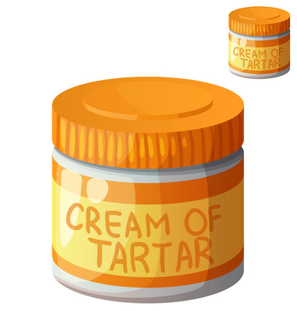 Cream of tartar isolated on white background. Detailed Vector Icon. Series of food and drink and ingredients for cooking.