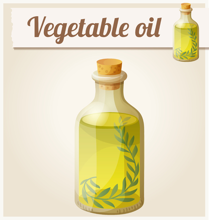 icon series: Vegetable oil. Detailed Vector Icon. Series of food and drink and ingredients for cooking. Illustration