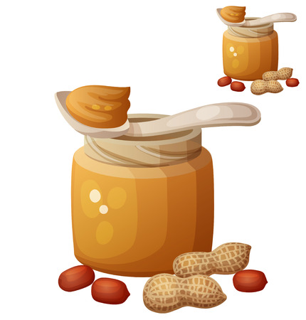 nutty:  Detailed Vector Icon isolated on white background. Series of food and drink and ingredients for cooking.
