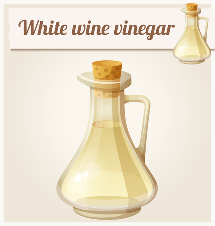 cruet: Series of food and drink and ingredients for cooking. Illustration