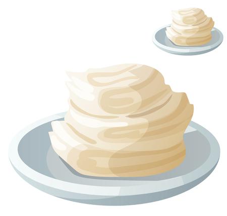 accorciamento solido. Dettagliata Vector Icon isolato su sfondo bianco. Serie di cibi e bevande e ingredienti per cucinare.
