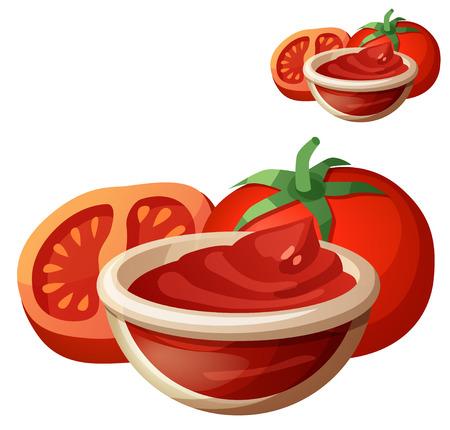 Tomato paste. Detailed Vector Icon isolated on white background.  Illustration
