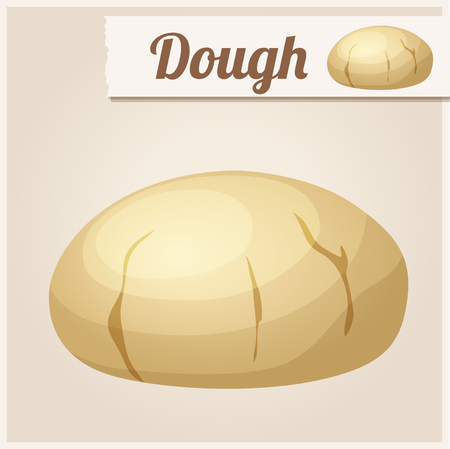 dough: Dough. Detailed Vector Icon. Series of food and drink and ingredients for cooking.
