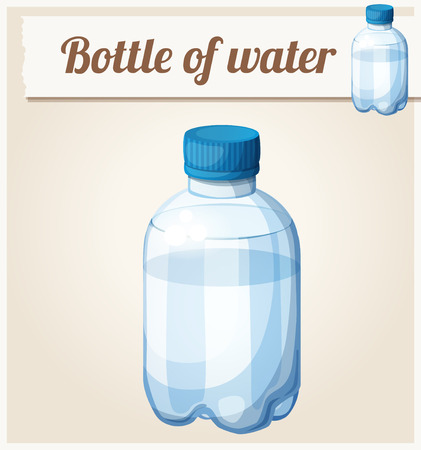 icon series: Bottle of water. Detailed vector icon. Series of food and drink and ingredients for cooking. Illustration