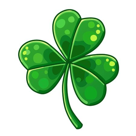 lucky clover: Detailed Icon. Lucky Clover isolated on white background Illustration