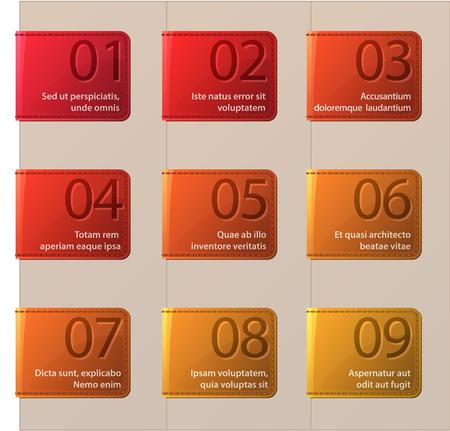 bookmarks: Set of vector bookmarks Illustration