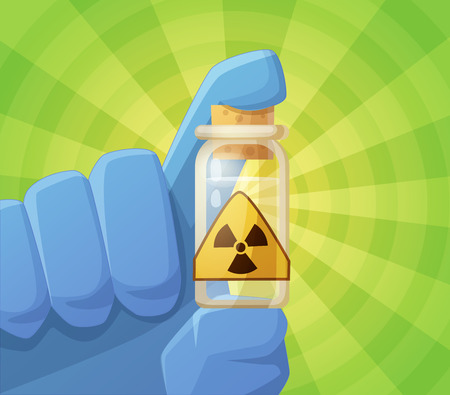 geiger: Radioactivity. Cartoon vector illustration