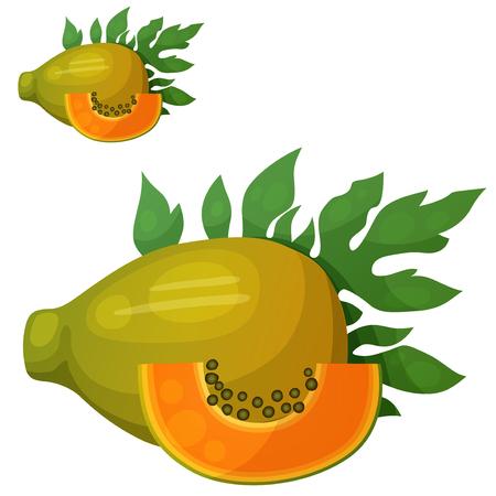 Papaya fruit icon.