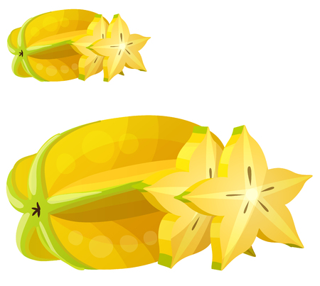 Star fruit Carambola icon.