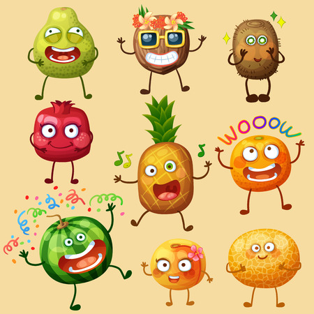 Funny fruit character