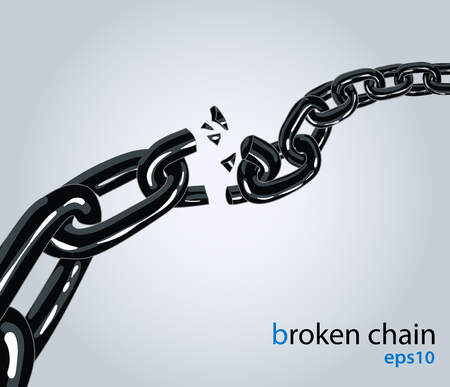 Broken black chain illustration.