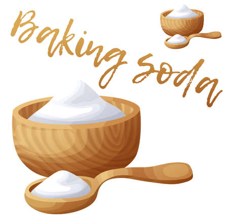 Baking soda. Cartoon vector icon isolated on white background. Series of food and drink and ingredients for cooking Illustration