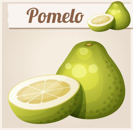 Pomelo fruit. Cartoon vector icon
