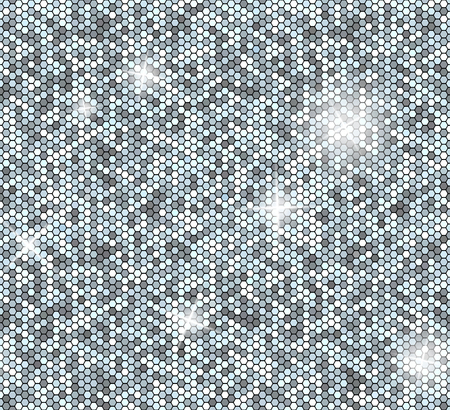 Silver seamless background with sequins. Glitter vector pattern. Illustration