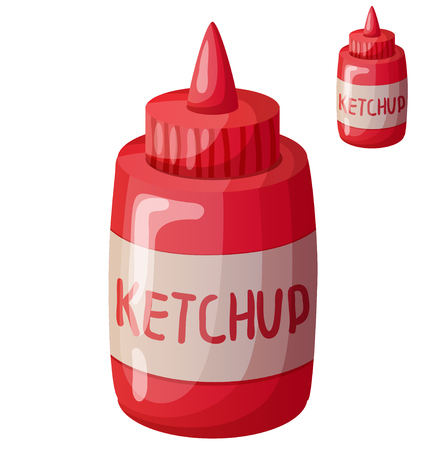 Ketchup. Detailed Vector Icon. Series of food and drink and ingredients for cooking.