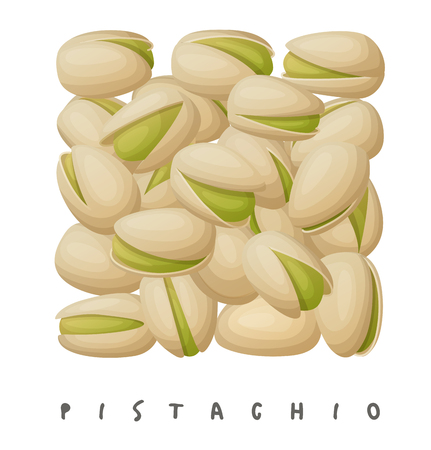 Pistachio nuts square icon.