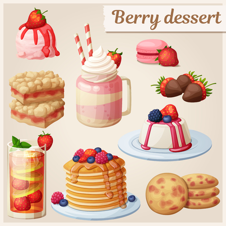 Strawberry dessert collection.