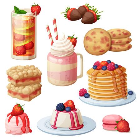 Strawberry dessert collection.