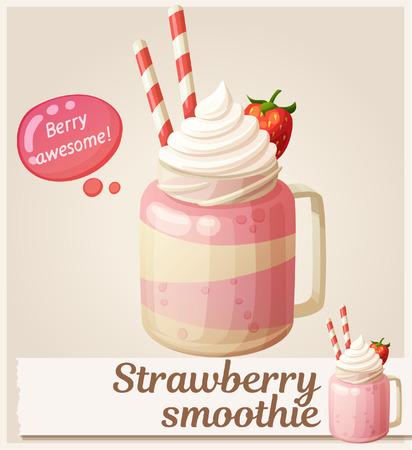 Strawberry smoothie dessert icon.