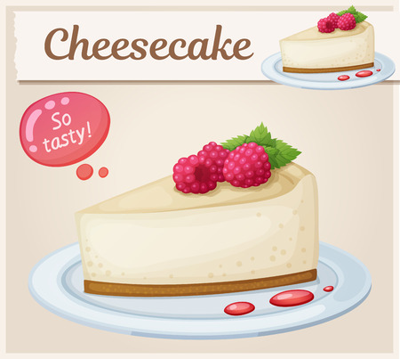Cheesecake with raspberry icon.