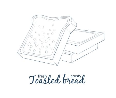 Toasted bread icon.