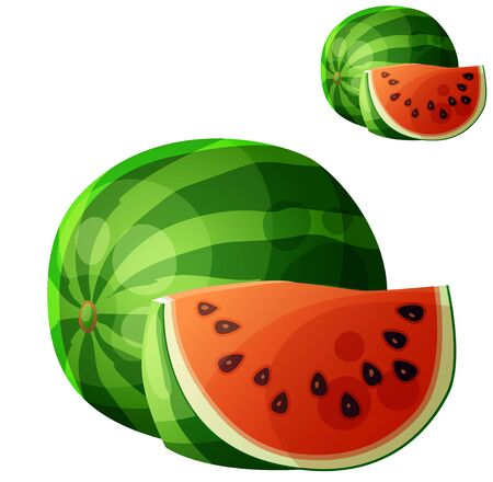 Watermelon. Cartoon icon isolated on white