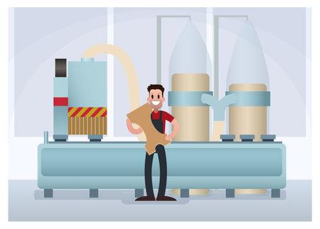 Plant worker. Cartoon vector illustration 矢量图像