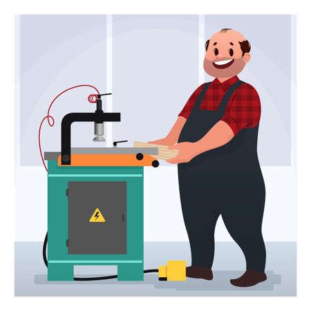Factory worker. Cartoon vector illustration 矢量图像