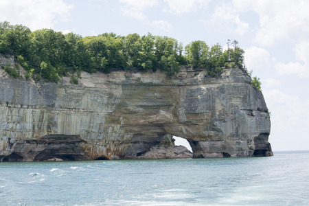 Pictured Rocks - Grand Portal Point Stock Photo