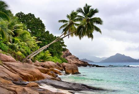 ladigue: grand coast on LaDigue Stock Photo