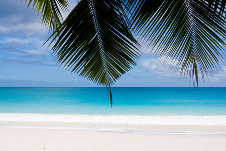 dream beach with white sands Stock Photo