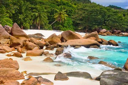 Anse Lanzio,Seychelles Stock Photo