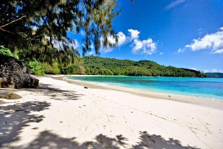beautiful beach on seychelles