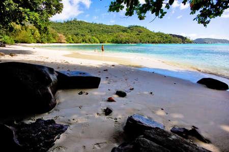 beautiful beach on seychelles Stock Photo - 2506287