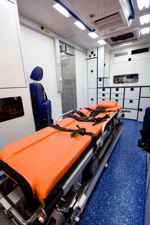 Interior De la Ambulancia Foto de archivo - 2767681