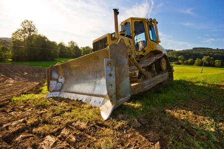 bulldozer in action photo