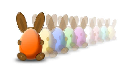 easter bunny in row Stock Photo - 2818899