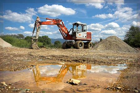 bulldozer in action Banco de Imagens - 2818919