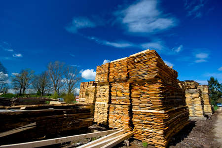 lumber collection on blue sky as background Stock Photo - 2880546