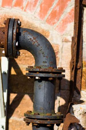 rusted conduit Banco de Imagens