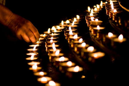 Candle light in a church Stock Photo - 3873224